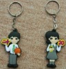 2012 hot-sale soft PVC key chain/cheap promotion gift keychain