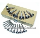16PCS Forstner Bit Set one set in a wooden box