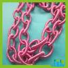 Fashion Coloured Plastic chain for necklace CS05
