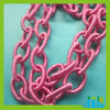 Fashion Coloured Plastic chain for necklace CS05