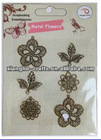china factory wholesale scrapbook metal embellishments for crafts