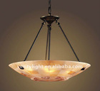 8 Light Pendant In Aged Bronze And Quartz Mosaic Stone