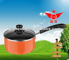 deep aluminum fry pot
