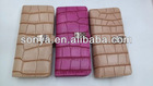 Hot sell croco zipper wallet for women
