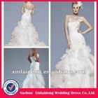 RWD026 hot online court train organza tiered sale wedding dress