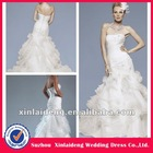 RWD026 hot online court train organza tiered sale wedding dress