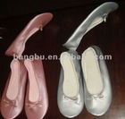 beautiful foldable indoor pu ballet shoes