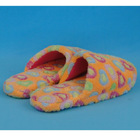 super soft plush indoor slipper with TPR sole