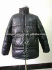 Mens down feather jacket parka
