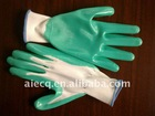 green nitrile working gloves DQ01