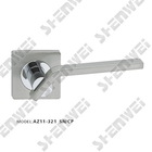 AZ11-321 SN/CP zinc alloy door handle on rose