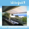 double arm retractable aluminum awning