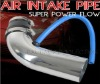 Silver Universal Aluminum Air Intake Pipe Pipes Air Intake System New