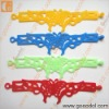 animal shape hollow silicone wristband