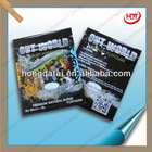 2012 hot sale printed hologram ziplock aluminum foil bag