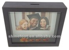 "8"" metal picture frame with coin bank T-FB01-1(02)"