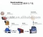low power consumption line of sand production
