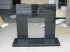 marble/granite fireplace