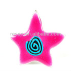 2012 hot sale wholesale five pointed star alloy enamel ring as gift for girls