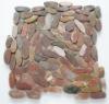 sliced pebble tiles