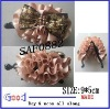 satin ribbon flower &sequin bow hair flower head flower with banana clip made in China