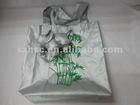 nylon silvery bag folding shopping bag
