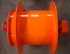 Supply slip ring built-in type coiler spring loaded cable reel