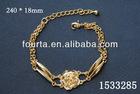 Beautiful Flower Italian Popular Gold Bracelet 1533285
