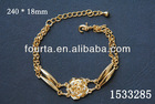 Beautiful Flower Italian Popular Gold Bracelet 1533285