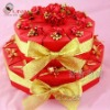Red wedding box cake decoration