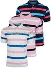 LF00021 Wholesale Custom 100% cotton high-quality stripe polo shirt for men