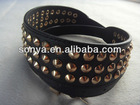 2013 Ladies' fashion Belt with brass rivets