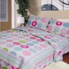 roundness pattern/cotton fabric embroidered quilt