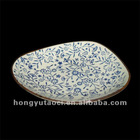 porcelain hand painting oval plate