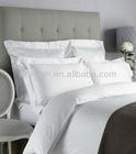 100%cotton white Luxury hotel jacquard bedding set,Hospitality Bed Linen