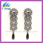 new style pearl drop earrings with colorful crystal