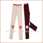 Autum New Pants Design Girls Cotton Capris with Bow Front