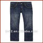 Stylish Medium Wash Boys Cotton Straight Leg Jeans