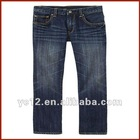 Stylish Medium Wash Boys Cotton Straight Leg Jeans