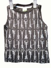 Fashion boys print jersey Vest for casual wear