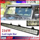 216W 12v 24v led driving light,led light bar,excavator light