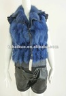 Fashionable far IR electrical battery heating warm Real rabbit lady vest