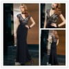 Free Shipping 2012 New Chiffon V-neck Lace Floor Length Mother of the Bride Dresses JYMD068