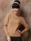 lady's 100% pure cashmere lady hot drilling cashmere sweater