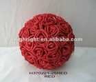 artificial rose ball for wedding decoration