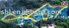 singel-loop &Double-helix roller coaster direct from No.1 amusement equipment factory