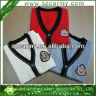 Newest 100% Wool Primary School Student Single Row Buttons Cardigan Sweater
