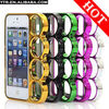 Knuckle Case Cover Hard Frame Electroplate Ring Case Cover for iphone 5 5G with retail package