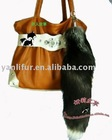 15''-18''black fox tail key chain handbag charm