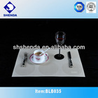 PVC table mat with round design